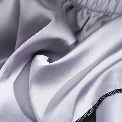 BBring 2020 Neu Einfarbig Satin Tanga M Grau 489155 (Bikini Bottom up Bikinislip G-String V-String Höschen Hipster ReizwäSche Unterhosen Panties Sportunterwäsche Bodywear) - 4