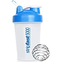 Protein Shaker Bottle Cup With Mixer Ball and Carry Handle, 400ml, LIFETIME Replacement Guarantee + Protein Recipe eBook