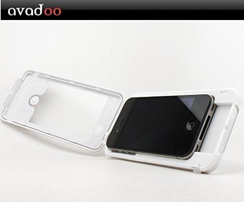 Avadoo © Case bois couverture pour iPhone 4 et 4S de noble bois d'érable !!! Pour l'iPhone 4 et 4S !!! Protecteur naturel pour iPhone 4/4S Sand White