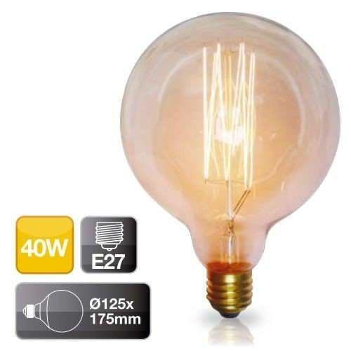 2001581GSC–Leuchtmittel Vintage Globe E2740W 2700K - 175 Mm, Carbon