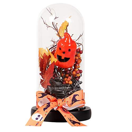 Hängende Verzierung, Chshe, Happy Halloween Glas Kürbis Dekoration Wohnmöbel, Weihnachtsgeschenke (A) -