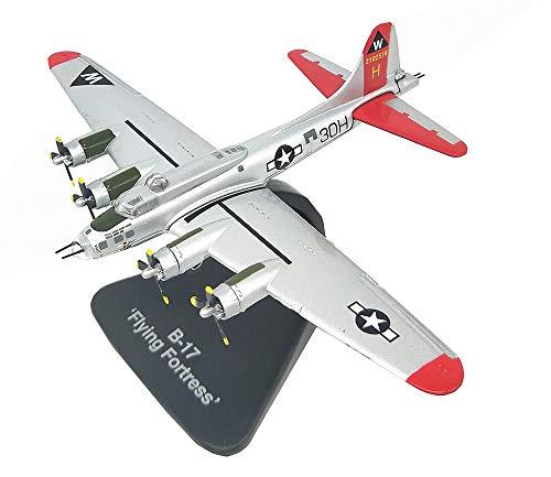EP-model Flugzeugmodell aus dem Ersten Weltkrieg Waffen Us B-17 Bomber Fertigproduktsimulationsmodell, Retro-Militärdekoration Nicht-Spielzeug-Souvenir,Red Us-bomber