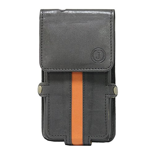 Jo Jo A6 Nillofer Series Leather Pouch Holster Case For iBall Andi 5S Cobalt3 Black Orange