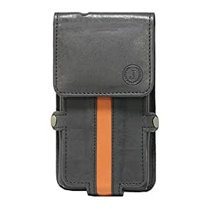 Jo Jo A6 Nillofer Series Leather Pouch Holster Case For Asus A10 Black Orange