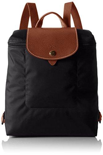 Longchamp Damen Le Pliage Backpack Rucksack, Schwarz (Noir), 23x40x55 cm
