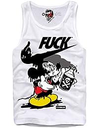GL BOUTIK Shirt - Camiseta - Kim Jon Un - Amour Supreme - Supreme Leader - Fuck - Cuello Redondo - Para Hombre Blanco vttJZU
