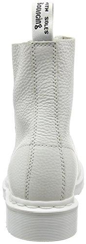 Dr. Martens Pascal W/Zip, Bottes Femme Blanc (White Aunt Sally)