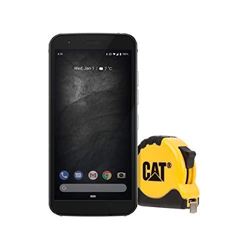 CAT 52 Outdoor Smartphone (5,65 Zoll HD+ Display, 64GB interner Speicher und 4GB RAM, Dual-SIM, Android 9 (Upgrade auf 10)) Amazon Edition inkl. Maßband - Schwarz [Exklusiv bei Amazon]