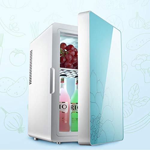Preisvergleich Produktbild Wu's Mini-Kühlschrank 16L,  LCD-Digitalanzeige-Auto-Gefrierschrank,  gehärtetes Glas-Einzelner Tür-Kühlschrank,  Auto und Hauptgebrauch,  DC12V,  AC220V