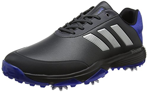 adidas Adipower Bounce, Chaussures de Golf Homme, Gris (Carbon/Silver Metallic/Collegate Royal), 41 1/3 EU
