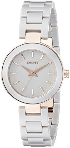 DKNY ny2356 28mm Stainless Steel Case Grey Ceramic Mineral Women's Watch