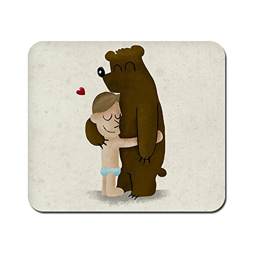 kmltail Bear Hug Design Speed Mouse Mat for HP Dell Lenova iball Dragonwar Red Dragon Logitech ibuypower Zebronics Printed Photo Scene Natural Rubber Gaming Mouse Pad Non Slip base-Kmltail  available at amazon for Rs.159