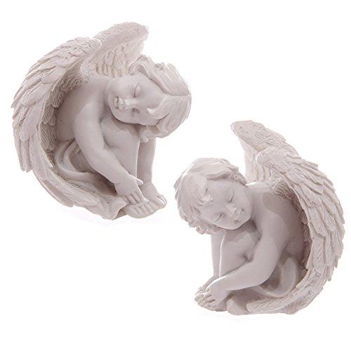 Coppia di 2Sleeping cherubino ornamenti. Un regalo