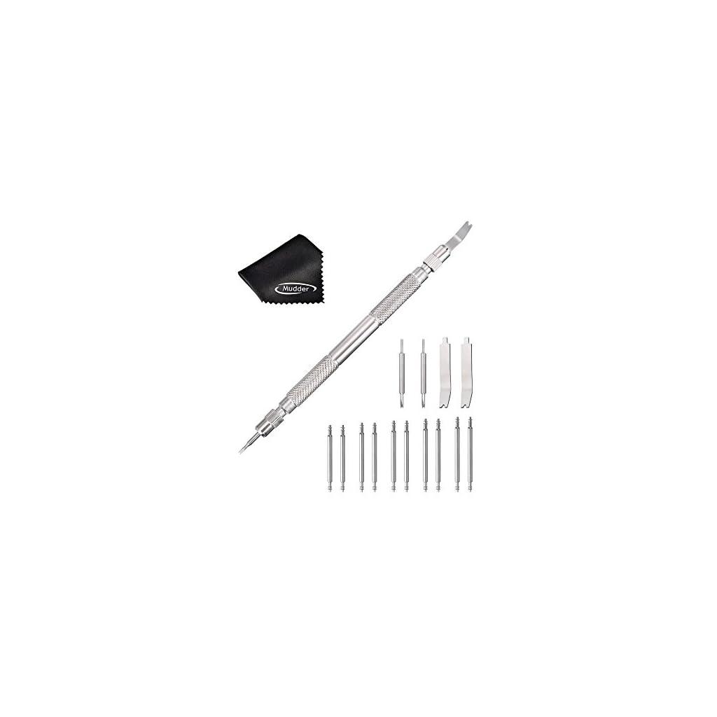 9aec765f5115 Barre Montre Outil avec 4 Broches Supplémentaires et 5 Paires Pins de  Bracelet pour Montre Outil de Réparation de Bandes de Poignet   7a7