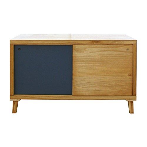 Rebecca mobili mobili porta tv credenza bassa 2 ante legno marrone grigio stile moderno entrata salotto (cod. re6055)