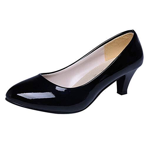 OSYARD Escarpins Femme Talon Femme Pas Cher Chaussres élégant Talon Bloc Haut Shoes Pointu