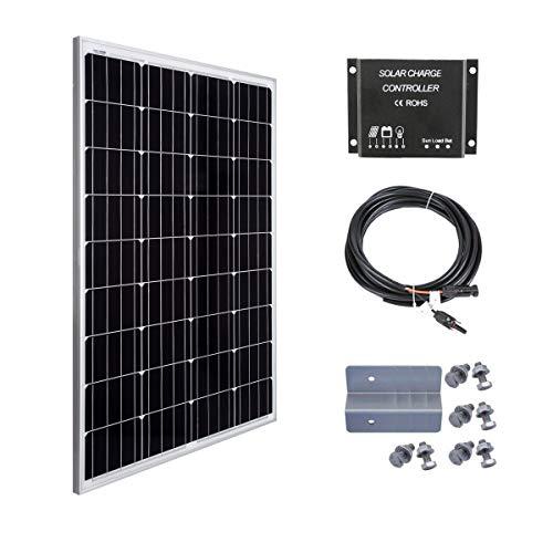 Betop-camp Kit panneau solaire 100W 12V-Panneau solaire 100W + Contrôleur de...
