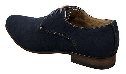 Chaussures Homme Daim Nubuck à Lacets Style Décontracté Chic Bleu Marine Noir Brun Bleu Marine