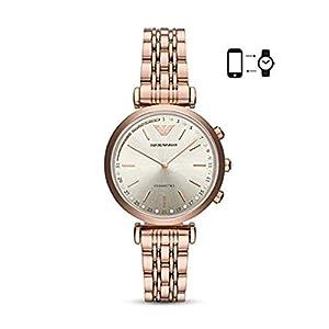 Emporio Armani Moterims Analog Quarz Smart Laikrodis Rankinis Laikrodis mit Edelstahl Armband ART3026