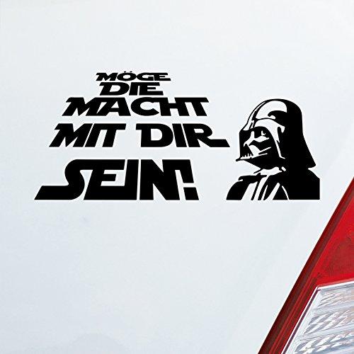 Preisvergleich Produktbild Auto Aufkleber in deiner Wunschfarbe Möge die Macht mit dir sein! für Star Wars Fans 19, 5x9 cm Autoaufkleber Sticker