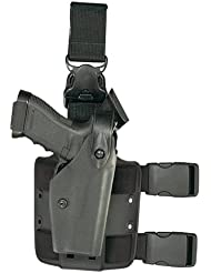 Safariland 6005negro Taser X26SLS campana liberación rápida arnés de pierna Tactical Gun Holster - 1117099, Negro