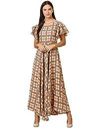 Klook Women's Crepe A-Line Maxi Dress - Peanut Beige