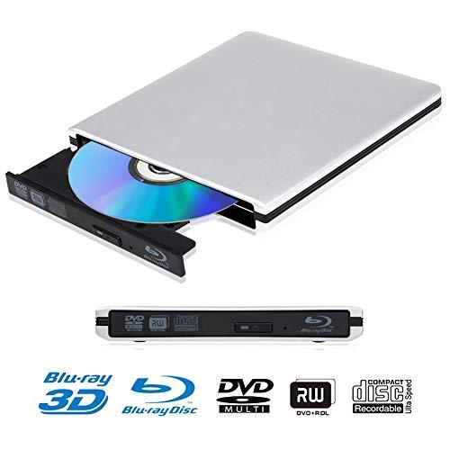 Externe 4k 3D Blu Ray DVD Laufwerk Brenner USB 3.0 Tragbare Ultra Slim BD/CD/DVD RW Player Disc für Windows 10 7/8 / Vista/XP / Mac OS Linux