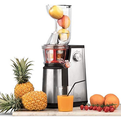 Licuadora para Frutas y Verduras de Prensado en Frío, Extractor de Jugos, Multifunciones, Boquilla...
