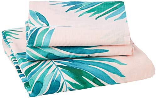 Fusion Leaves Parure de lit, 52% Polyester, 48% Coton, Green, Double