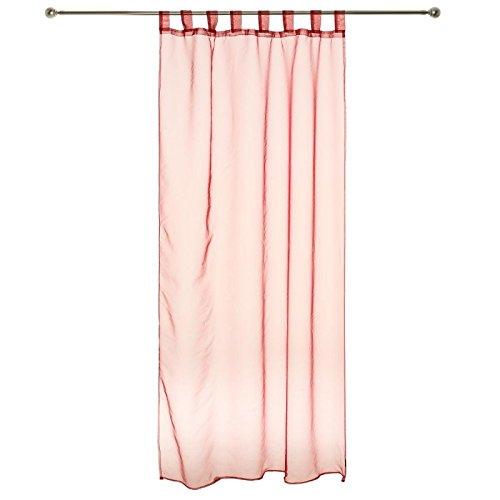 Coppia di tende con nappa Organza–Rosso–140x 240cm
