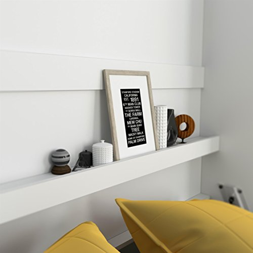 SMARTBett Basic 140×200 Vertikal Weiss Schrankbett | ausklappbares Wandbett, ideal geeignet als Wandklappbett fürs Gästezimmer, Büro, Wohnzimmer, Schlafzimmer - 4