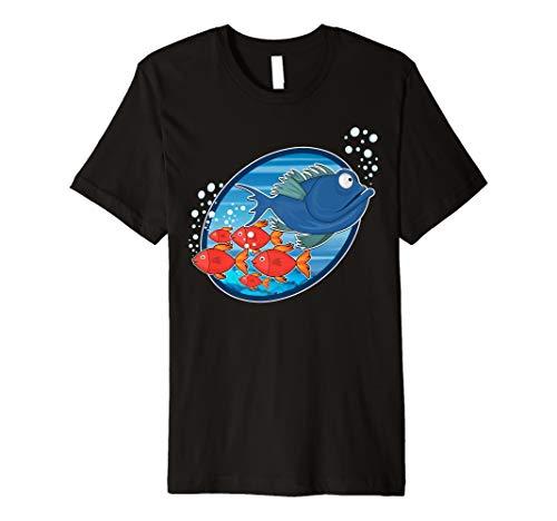 Aquarien T-Shirt Aquaristik Fisch Aquarianer Shirt Mann Frau