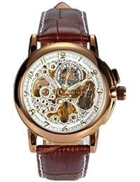 ORKINA YI-WAC14-03-222 - Reloj para hombres, correa de cuero color marrón