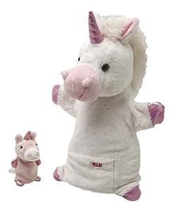 Trudi 64183 - Marionetta Unicorno con Cucciolo 28 cm