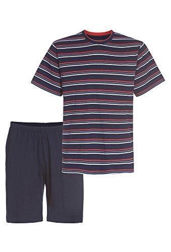 Smith Herren Pyjama kurz dunkelblau-rot,M