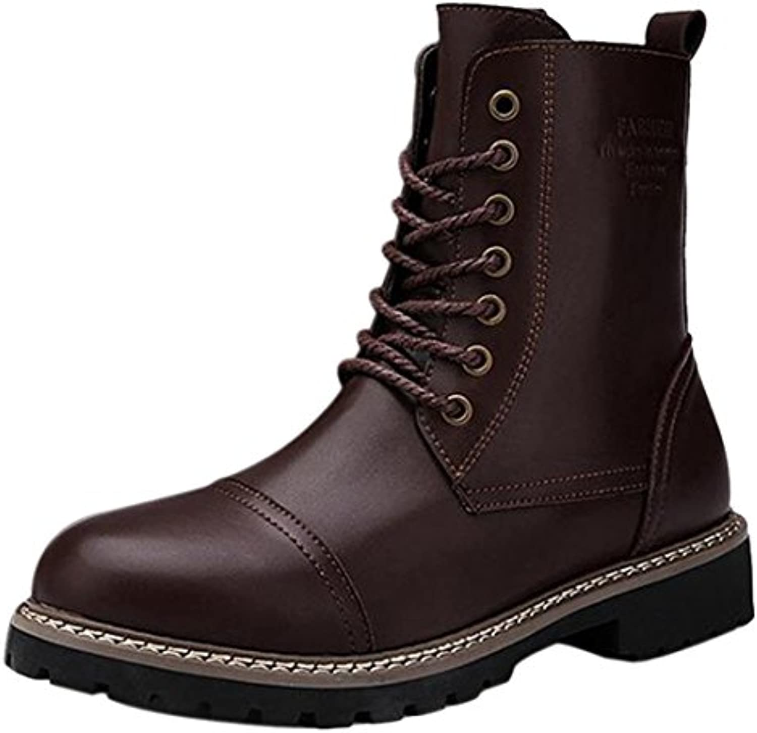 Neuer Mann Ankle Boot Martin Winter Schnee Warm Leather Lace Up Military Stiefel Schuhe