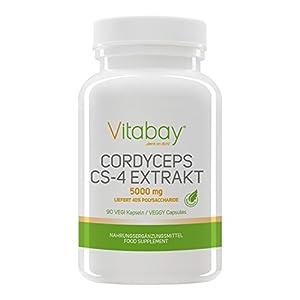 Cordyceps CS-4 Extrakt (Raupenpilz) – 5000 mg (liefert 40% Polysaccharide)- 90 Vegi Kapseln