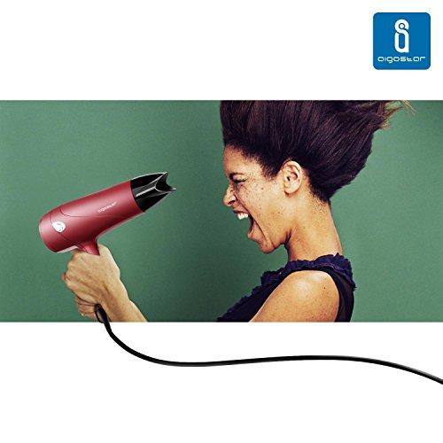 Aigostar Grace 32GQL   Secador profesional de pelo en color rojo mate con difusor y accesorios. 2000 watios. Diseño exclusivo de Aigostar.