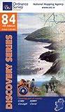 Ordnance Survey Ireland Blatt 84, Kerry, Cork, Iveragh, Caherdaniel, Bear, Slieve Miskish Mountains Caha Mountains, Irland Südwestküste topographische Wanderkarte 1:50.000