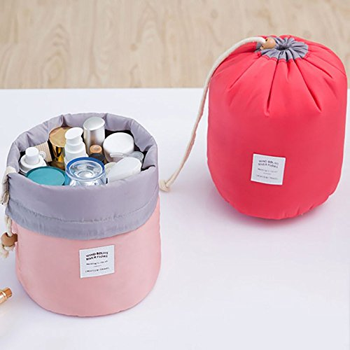 Orpio Bucket Barrel Shaped Travel Dresser Pouch Cosmetic Makeup Bag For Girl Women
