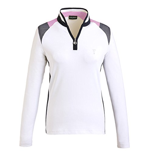 jersey-de-golf-funcional-con-cremallera-delantera-de-manga-larga-de-senora-en-corte-ajustado-blanco-