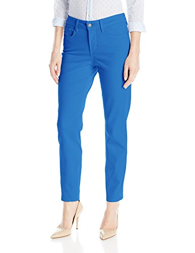 NYDJ Women s Clarissa Ankle Jeans In Colored Bull Denim, Chateau Blue, ... 08d720cd56a