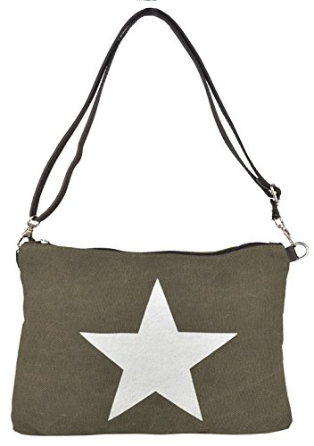Bags4Less Borsa Messenger, Marrone (Grigio) - Canvas_1 Marrone