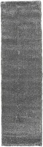 Tappeto shaggy sadeh - grigio 80x300 tappeto moderno, passatoia