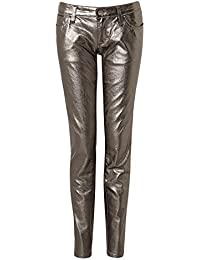 Miss Sixty Soul 2nd Skin Jeans Gold Metalic Slim skinny Made Italy