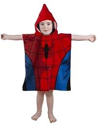Disney - Albornoz tipo poncho para niños, diseño de Spiderman