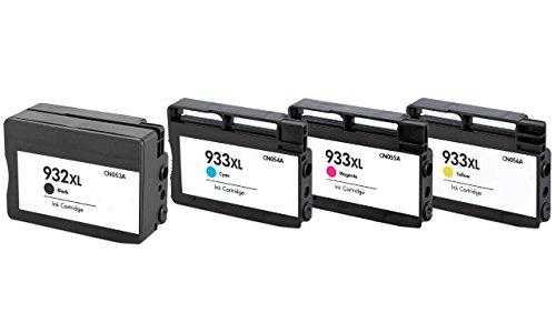 Preisvergleich Produktbild Prestige Cartridge 4 x HP 932XL HP 933XL Tintenpatronen, schwarz/cyan/magenta/gelb