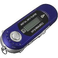 Wenquan,Unidad Flash USB Reproductor de MP3 LCD Mini Radio FM(Color:Azul)
