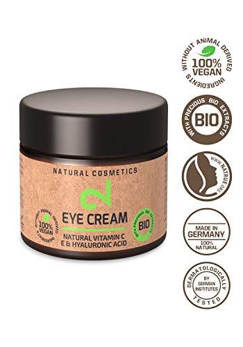 DUAL Eye Cream | Crema Para Ojos 100% Natural y Vegana |Vitamina C y Ácido Hialurónico | Microalgas y Brócoli | Para Contorno de Ojos | Hidratación y Anti-edad | Certificado |25m| Hecho en la UE