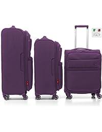 Venice Juego de maletas, 132 liters, Morado (Viola)